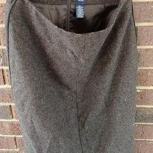 Wool Blend pencil skirt
